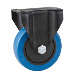 Rigid caster PVC wheel